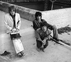 Brian Jones, Keith Richards, and Mick Jagger