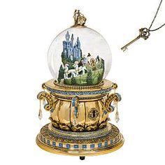 Cinderella's Castle Snowglobe with Key