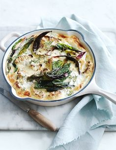 cauliflower and rainbow chard frittata with lemon and goat's curd from donna hay fresh + light issue #2