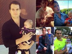Henry cavill with babies