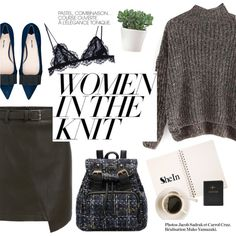 How To Wear Women in the knit Outfit Idea 2017 - Fashion Trends Ready To Wear For Plus Size, Curvy Women Over 20, 30, 40, 50