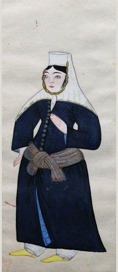 Armenian woman. Peter Mundy, 1618
