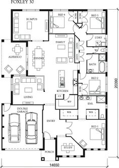 Foxley   Eden Brae Homes Home Layout Idea   No Need For Two Living Spaces  That