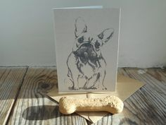 French Bulldog Card by huxleyjonesdesigns on Etsy