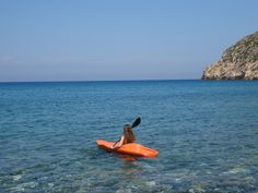 Canoeing on Apollon Village - Naxos Island - Greece Canoeing, Greece, Mountain, Exercise, Sea, Island, Fitness, Outdoor Decor, Travel