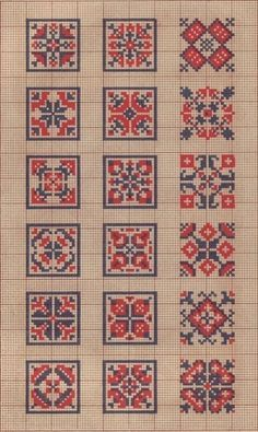 Square cross stitch patterns