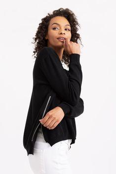Side-Zip Cashmere Sweater | Modern Citizen