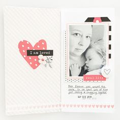 HEART EMBELLISHMENT - Real Life Traveler's Notebook Page by Mandy Melville   @FelicityJane