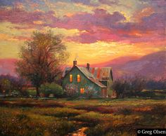 ❤ One of my favorite things: Home is not a place, it's a feeling - Painting by Greg Olsen Greg Olsen Art, Pop Art, Rejoice And Be Glad, Thomas Kinkade, Heaven On Earth, My New Room, Landscape Art, Oeuvre D'art, Painting Inspiration