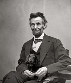 Even Abe had a Dachshund!