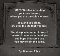 Words by Shannon Riley - click the image to read more of Shannon's words. Graphics by Amanda Francey. #MyalgicEncephalomyelitis #ChronicFatigueSyndrome #MECFS #MillionsMissing