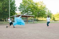 This is the most creative gender reveal I've ever seen - baseball reveal!