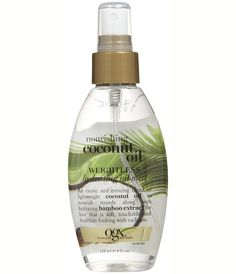 Make sure your hair is soft with coconut oil mist.