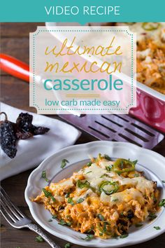 We love low carb casseroles! They're an easy way to have dinner ready for the entire week! Take the colorful flavors of Mexican cuisines are bake them into a cheesy, delicious & healthy casserole to feed a whole family or just yourself! www.tasteaholics.com