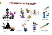 chemische energie:brandstoffen zoals aardgas en olie bezitten chemische energie. De chemische energie zit in die stoffen opgeslagen.