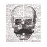 Vintage Skull with Mustache Print on Dictionary Notepad #halloween #happyhalloween #halloweenparty #halloweenmakeup #halloweencostume