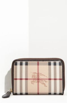 Burberry 'Haymarket Check' French Zip Around Wallet available at #Nordstrom