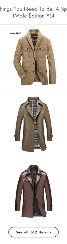 """""""Things You Need To Be: A Spy (Male Edition #6)"""" by enchantedrose33 ❤ liked on Polyvore featuring men's fashion, men's clothing, men's outerwear, men's jackets, khaki, mens khaki jacket, mens military style jacket, plus size mens jackets, mens khaki military jacket and mens collared jacket"""
