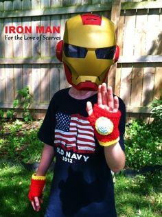 Iron Man fingerless gloves