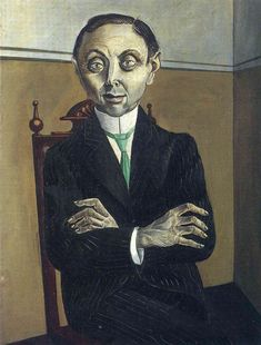 Portrait of Paul F. Schmidt by Otto Dix, oil on canvas, 63x82cm, 1921.