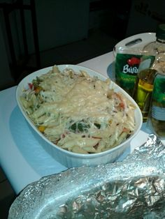 Pasta con verduras al horno y manchegi