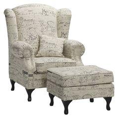 Juliette Wing Chair - Natural Linen