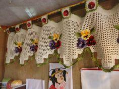 cortina al crochet