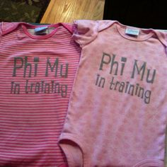 Phi Mu in training