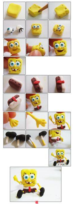clay spongebob
