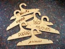 Personalised Baby Clothes Hanger