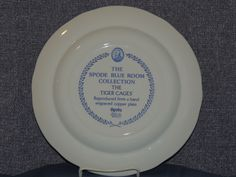 """Spode Blue Room Collection Series Plate - 'The Tiger Cages' 10.5"""" Dinner Plate 