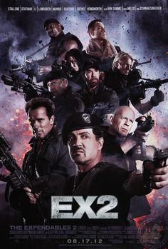The Expendables 2 is a pease of art. Actually the amount I was laughing was extraordinary. This movie had all the biggest 90's action heros and also tons of clichés from their movies. In this movi there is Sylvester Stalone, Jason Statham, Jet Li, Bruce Willis, Chuck Noris, Jean-Claude van Damme, Arnold Schwarzenegger, Terry Crews, Dolph Lundgren, Liam Hemsworth. A must see movie. #ex2 #AndeoX