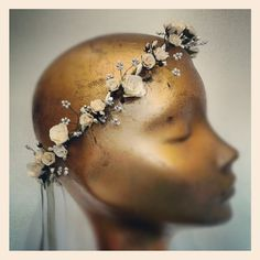 Ivory Pearl Wave hair garland by BloomingLoopy.com - £45 made to measure (wide choice of colours available)