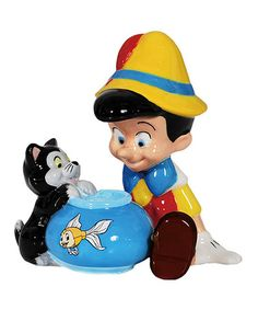 Loving this Pinocchio & Figaro Salt & Pepper Shakers on #zulily! #zulilyfinds