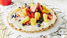 Tosi helppo kesätorttu - K-ruoka -Fazer keksimurut korvattu Semperin gluteenittomilla Digestivekekseillä (välipalakeksi) -gluteeniton-