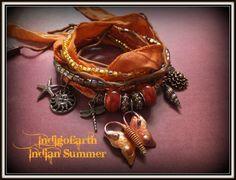 IndigoEarth ~Indian Summer~ Gypsy Wrap Bracelet | IndigoEarth - Jewelry on ArtFire
