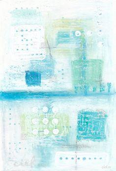 ciel.w 絵を描く人。  ファインアート > その他  水の暗号。