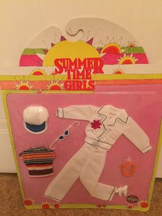 Boxed carded Airfix The Summertime Girls Bee Sailor Outfit RARE like Barbie Doll | 15+3