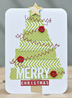 Love this!  Fun use of tape and zig zagging :)CarinaLindholm_MerryChristmas_TapeCard