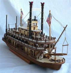 Artesania Latinas 1/80 scale paddle sternwheeler  riverboat steamer King of the Mississippi.