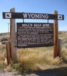 hells half acre wyoming | Hell's Half Acre Marker (Natrona County, Wyoming) | Flickr - Photo ...