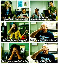 Community. This show has some of the wittiest humor ever. It's awesome. -D