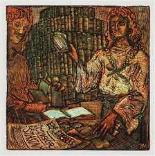 exlibris  -   Josef Váchal (23. září 1884 Milavče u Domažlic – 10. května 1969 Studeňany u Jičína) byl český malíř, grafik, ilustrátor, sochař, řezbář a také spisovatel a básník. Jeho tvorba byla ovlivněna expresionismem a prvky symbolismu, naturalismu a secese, pokoušel se však o vlastní stylově nevyhraněné umělecké vyjádření.