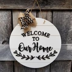 Door Hanger Welcome Sign Front Door Decor Wood Door Sign Front Door Sign Year Round Wreath Wreath Door Decor What a sweet accent piece to bring an extra touch of charm to your decor. The farmhouse feel of the shiplap circle background if the Wood Front Doors, Front Door Decor, Front Porch, Wooden Wreaths, Door Wreaths, Diy Wreath, Wooden Hangers, Door Hangers, Craft Font