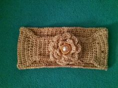 Ear Warmer. Single stitched with or without flower. by Rudjon