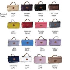 AllRanGe: Longchamp Cosmetic Bag - Le Pliage