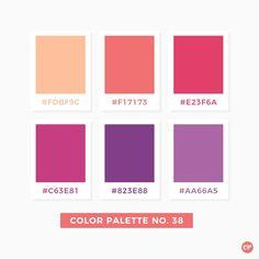 Color Palette No. Hex Color Palette, Color Palate, Colour Schemes, Color Patterns, Pink Palette, Pantone Colour Palettes, Purple Color Palettes, Pantone Color, Purple Color Code