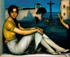Julio Romero de Torres. La Buenaventura (detalle). 1922. Colección Museo Carmen Thyssen, Málaga.