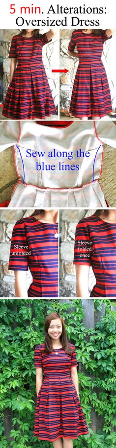 Life is Beautiful: 5-min. Alterations: tailor a bigger size dress in less than 5 mins.
