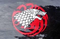 Game of thrones themed Stark / Targaryen sigil vinyl sticker